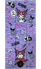Japan Sanrio Caracters kuromi Face Towel 34 x 75cm