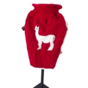 Royal Animals Dog Red Turtleneck With White Lama 0437