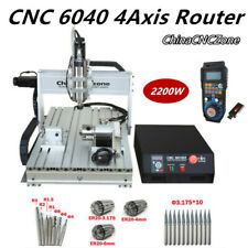 22kw Cnc 6040 4axis Router Mach 3 Usb Engraving Diy Cutting Milling Machine Us