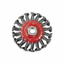 """4"""" 100mm Twist Knot Flat Wire Wheel Cup Rotary Brush Angle Grinder Thread DIY"""