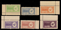 1934 SAUDI ARABIA  ISSUE FORGERIES PERF.10  MINT NH SCT.141-3 145-6 149 MI.1-12