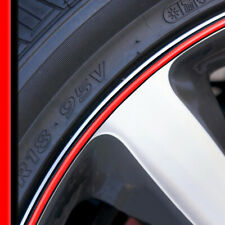 Wheel Bands Red in Black Rim Edge Protector 13-22' Rims for Volkswagen Beetle