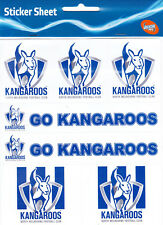 NORTH MELBOURNE KANGAROOS * STICKER SHEET * AFL * NEW & SEALED