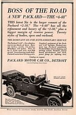 1914 AD  PACKARD  MOTOR CO  BOSS OF THE ROAD  4-48 SIX CONSORT OF 2 38