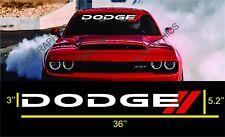 DODGE Decal CHARGER  Windshield Sticker vinyl  Ram Durango Dart Dacota