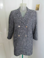Etro long jacket- short coat boucle 3/4 sleeve sz 40/UK 8 generous fit will UK10