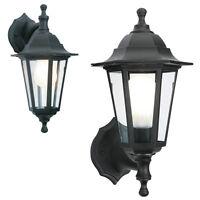 2 in 1 Black Rustproof Traditional Coach House Wall Garden Outside Lantern Light
