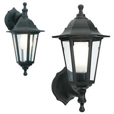 2 in 1 Black Rustproof Traditional Coach House Wall Garden Outside Lantern Light