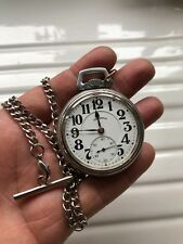 Stunning illinois 1923 Abe Lincoln Railroad Grade pocket watch in Display case