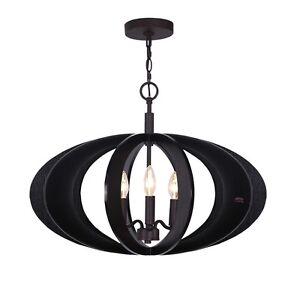Woodbridge Lighting Fins Aquatech Wood 3-Light Pendant, Wenge - 14013MEB-W1D2WG