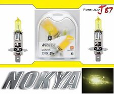 Nokya 2500K Yellow H1 Nok7617 55W Two Bulbs Head Light High Beam Replacement OE