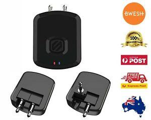 SCOSCHE FluTunes Wireless Bluetooth Audio Transmitter for Gyms Airplanes Black