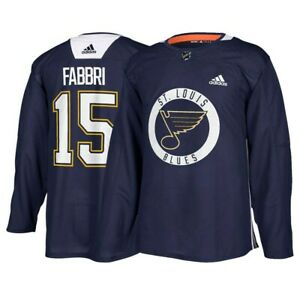 Robby Fabbri St. Louiss NHL Adidas Navy Authentic Practice Player Jersey