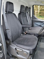 Ford Transit Custom - Black Tailored Heavy Duty Van Seat Covers Fits 2013 - 2020