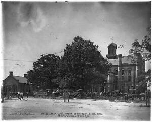 Court House,Courthouse,Shelby County,Center,Texas,TX,Horse Drawn Wagons 6782