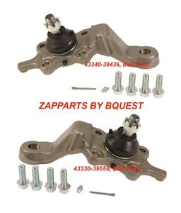 TOYOTA TACOMA 4 WHEEL DRIVE LOWER BALL JOINT SET 43340-39436, 43330-39556,