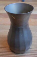 Vintage Gatco Solid Brass Water Bud Flower Table Vase Made In India Patina