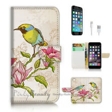 ( For iPhone 8 ) Wallet Case Cover P2284 Bird