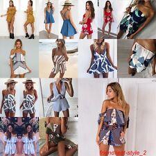 Women Romper Summer Short  Dress One Piece Bodycon Crop Top Shorts Jumpsuit Lot