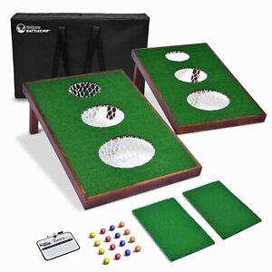 Backyard Golf BattleChip VERSUS Game   Includes Targets, 16 Balls, Mat, Board