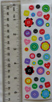 Mrs Grossman BUTTONS - Strip of Vintage 1996 Buttons Discontinued Stickers