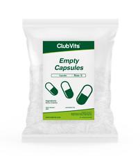 Size 0 - 1000 Empty Capsules - Self fill Gelatin Capsules, Non-Vegetarians