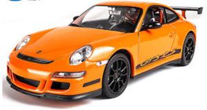 Welly 1:24 Porsche 911 GT3 RS (997) Orange Diecast Model Sports Racing Car NIB