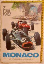 MONACO 25 GRAND PRIX AUTOMOBILE 7 MAI 1967 POSTER MICHAEL TURNER