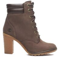 Timberland Women's Tillston High Heel Brown Leather Boots Style A2DXD