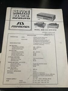 Original Soundesign Model 4430 And 4731/4732 Service Manual