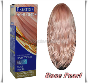 Prestige Be Blonde BB09 Rose Pearl Semi Permanent Hair Toner Ammonia Free
