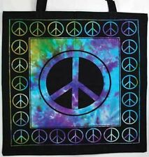 Peace Tie Dye Tote Bag Shopping Bag Wiccan Pagan Altar Supply 74PE