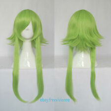 Vocaloid GUMI Gold Green mix medium Cosplay party full wig+ wig cap