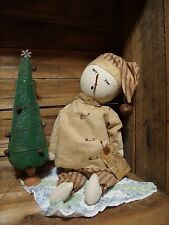 PATTERN~PRIMITIVE/SNOWMAN/CHRISTMAS/WINTER/DOLL/SITTER/QUILT/ON CD/PT097