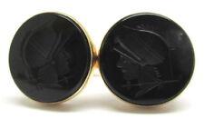 14kt Yellow Gold Men's Onyx Cufflinks