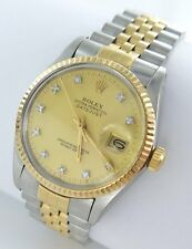 Rolex Datejust Herren Uhr Stahl/Gold  Diamanten - Ref. 16013