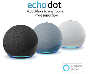 NEW! Amazon Echo Dot 4th Generation - Charcoal | Glacier White | Twilight Blue