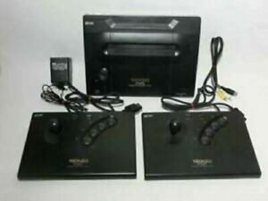IN HAND SNK Neo Geo Console & Controller 2 pcs NGO Japan AC100V Great Condition