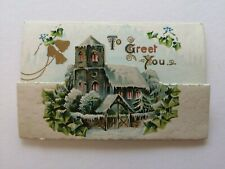 Victorian Christmas greetings card scrapbook craft idea card topper