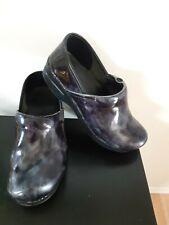 Dasko Clogs Shoes Slip On Nursing Chef Blue Black Size 39 8.5 US Comfy Walking