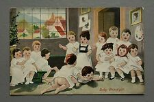 R&L Postcard: Baby Prizefight, School Children Fighting