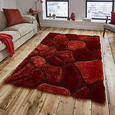 Terracotta Pebble Rug Shaggy Pile Noble House Hand Tufted Home Décor Floor Mat 150cm X 230cm