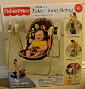 FISHER PRICE OPEN TOP TAKE ALONG SWING WOODLAND CREATURES P1397 *NEW*