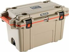 Pelican 70Q-2-TANORG  IM 70QT Elite Cooler Ice Chest Tan / Orange 70 Quart