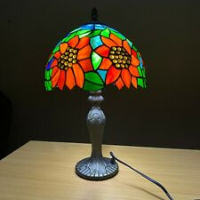 Tiffany 10'' Vintage Table lamp Creative Sunflower Stained Glass For Living Room