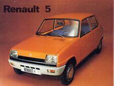 Catalogue prospekt brochure Renault 5 FASA 1973 ES