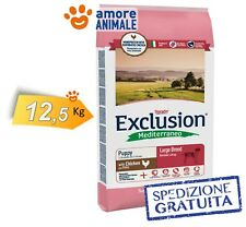 Exclusion Dog Mediterraneo Puppy & Junior Large Breed con Pollo 12,5 kg > Cani
