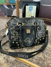 TOUS Leather trim satchel cross body bag duffle