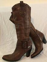 Bruno Premi Dark Brown Knee High Leather Beautiful Boots Size 40 (476Q)
