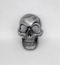 Skull With Moving Jaw  Metal Belt Buckle